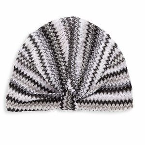 Missoni black and white knit turban headband
